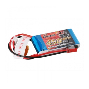 Gens ace LiPo 450 mAh 2S1P 25C/50C battery suited